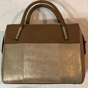 NWT-Antonio Melani Gold Geneva Satchel w/Dust Bag